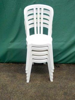 White plastic bistro chairs for sale