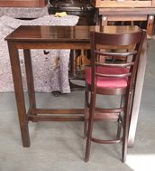 Poseur tables and high bar chairs