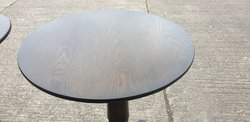 Solid wood poseur tables for sale