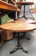 4x Round Tables - New Tops on Refurbished Cast Iron Bases - East Nottinghamshire
