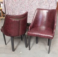 Stylish Embossed Leather Tub Chairs