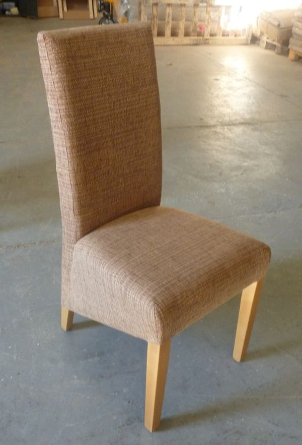 High Quality European Made Mushroom Fabric Upholstered Restaurant Chairs