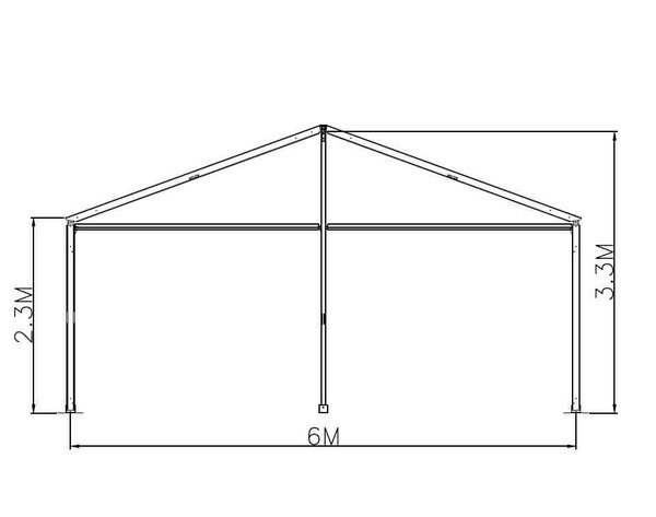 6m Gable plan