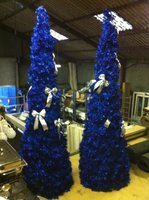 8 Used Blue Christmas Trees