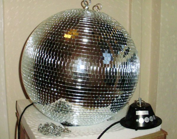 16 inch Mirrorball and Mirrorball Motor