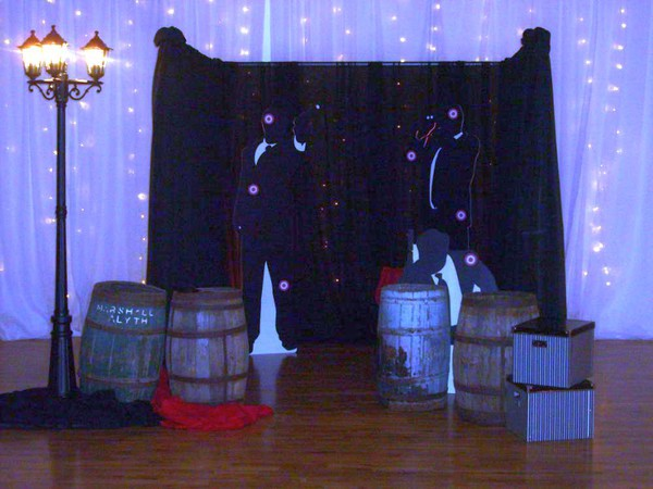 Black and white James Bond  flats themed events