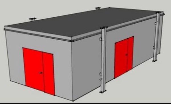 CAD design of temporary kitchen