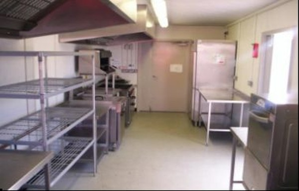 Interior of temporary kitchen