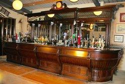 Large Victorian Style Mahogany Bar