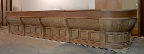 Large Victorian Style Mahogany Bar Carcass