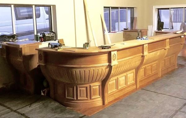 Victorian Style Mahogany Bar