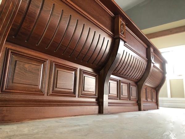 Large Victorian Style Mahogany Bar Detail