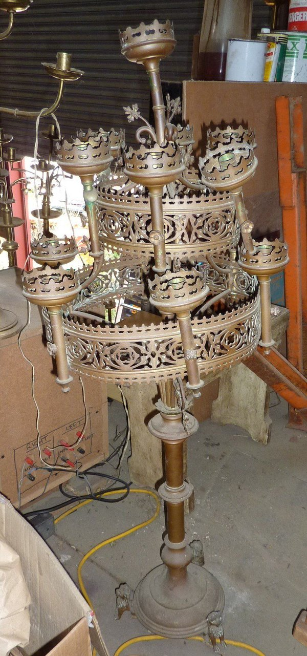 Pair of Unique and Extremely Ornate Silver Candelabra