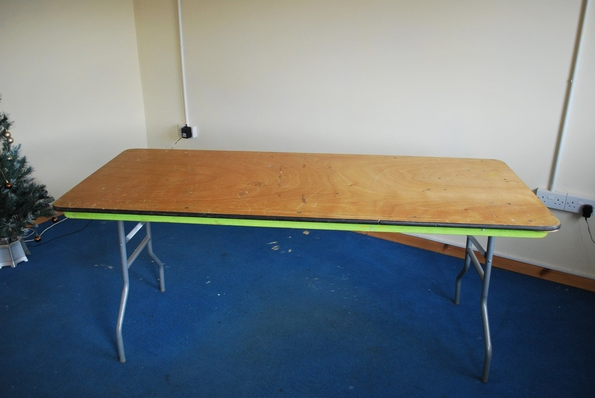 Secondhand Hotel Furniture Buffet Tables 6x Trestle Tables Cornwall
