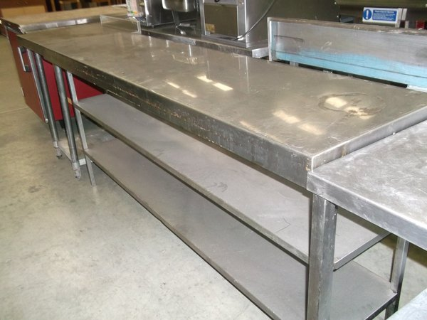 Large stainless steel table