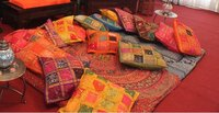 Morrocan or Indian cushions and poofs
