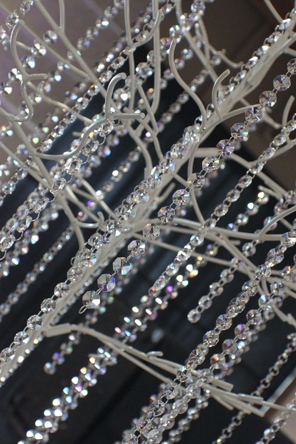 Secondhand prop shop christmas 50x 1m crystal droplet chains glass bead chains crystal droplet chains junglespirit Image collections