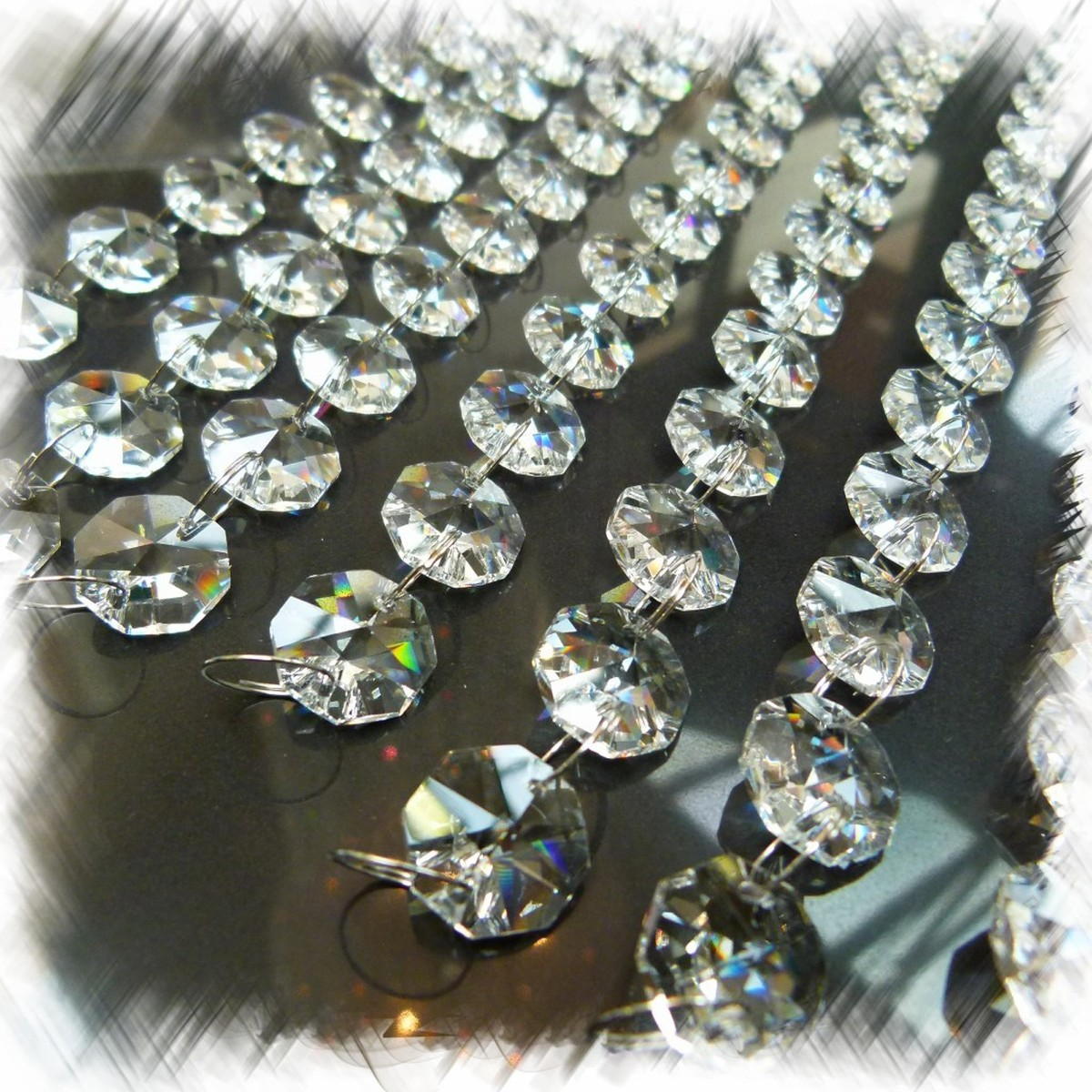 Secondhand Prop Shop Christmas 50x 1m Crystal Droplet
