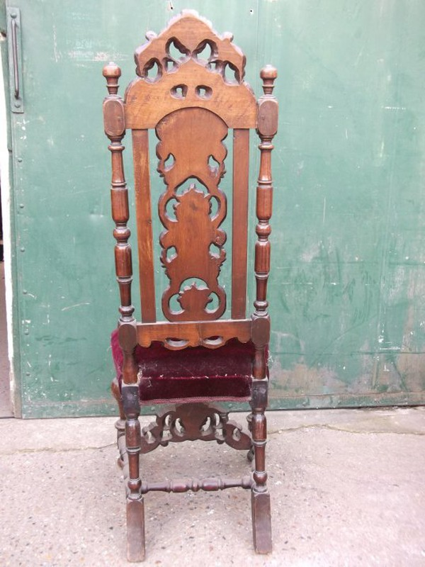 A beautifully carved pair of Carolean chairs for sale