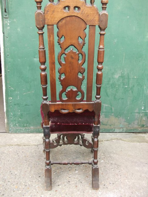 beautifully carved pair of Carolean chairs.