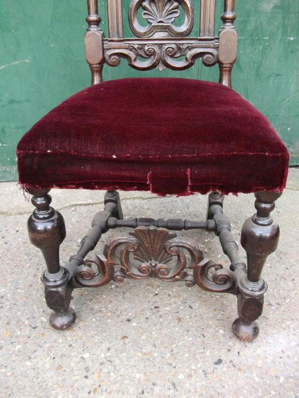 Buy Carolean 18th Century Scallop Carved Chair Set