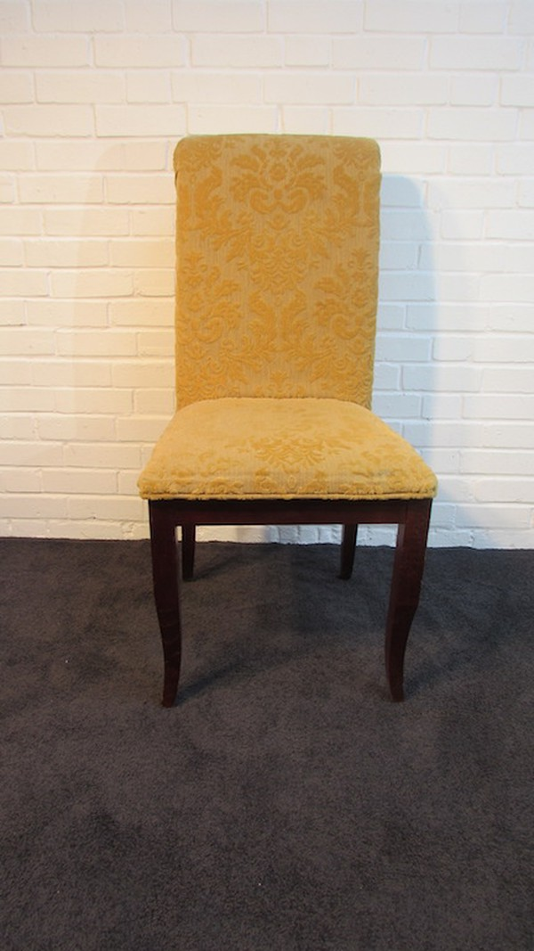 High backed solid wood dining chairs