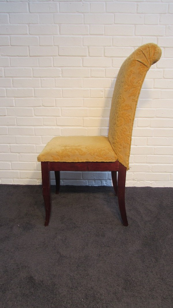 High backed wooden dining chairs