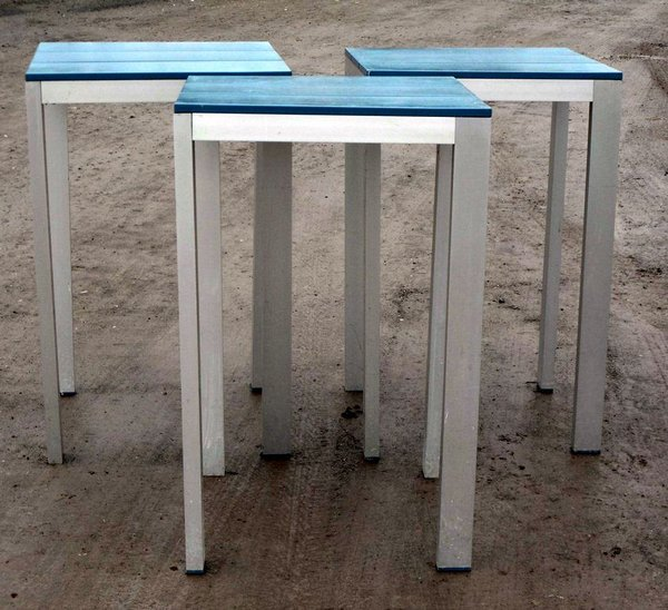 Tall Metal Poseur Tables