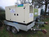 40kva Generator Aksa Trailer Mounted 3 phase Diesel