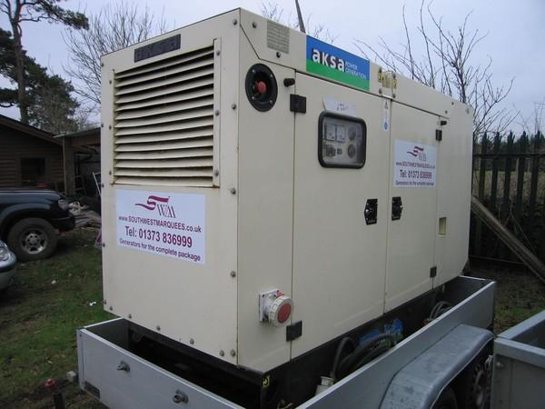 Buy 40kva Generator Aksa Trailer Mounted 3 phase Diesel