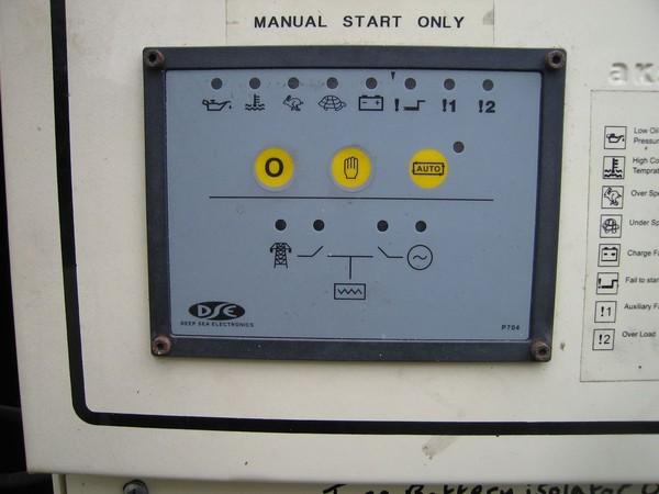 Second Hand 40kva Generator Aksa Trailer Mounted 3 phase Diesel