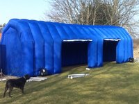 Inflatable garage