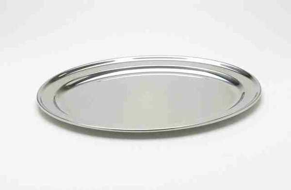 Stainless steel serving platter