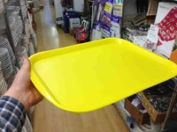 Yellow plastic serving tray