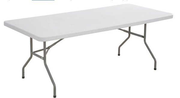 Plastic white trestle table
