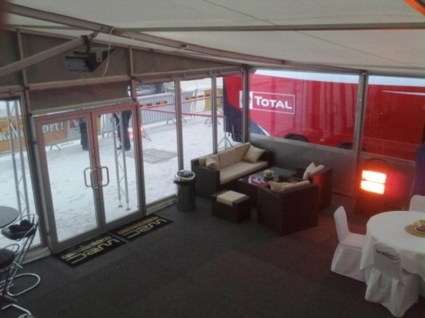 Awning of 3.6m Hospitality and storage trailer