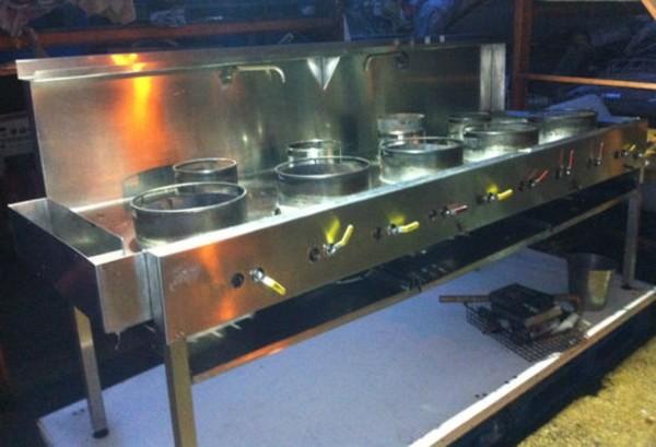 9 burner gas wok cooker