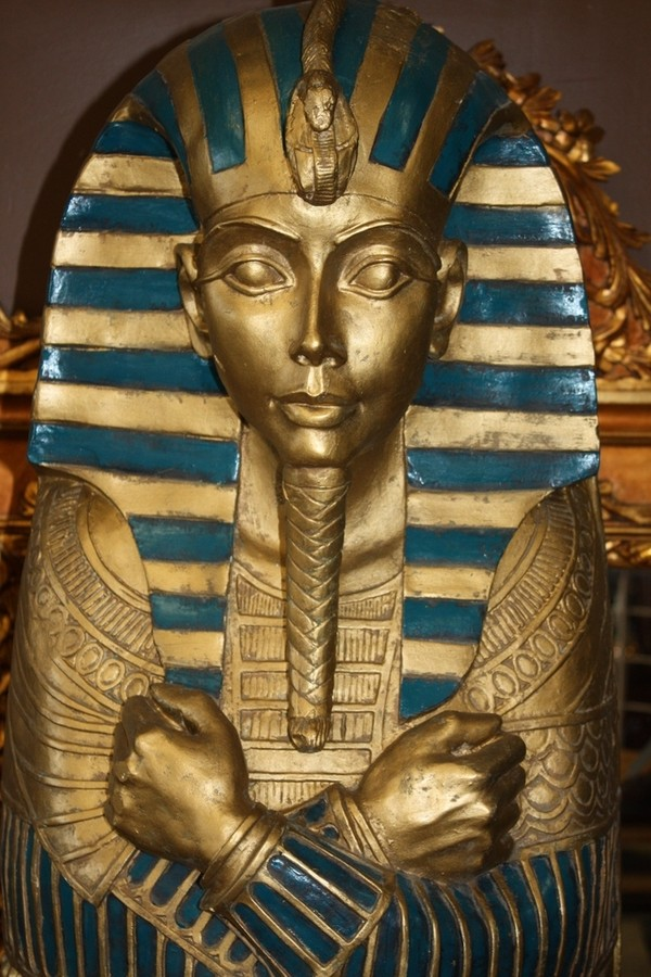 large egyptian coffin statue