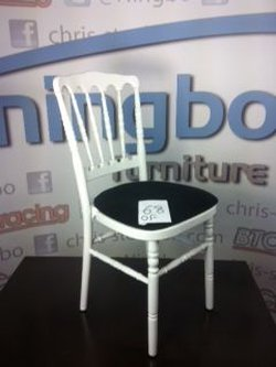 68x Napoleon Stacking Chairs in White