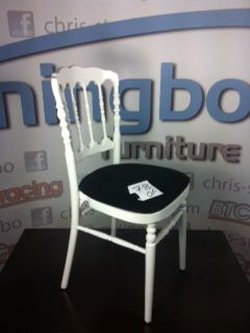 78x Napoleon Stacking Chairs in White