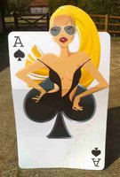 Blond Club themed playing card