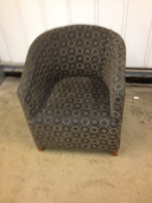 Used Green Tub Chair
